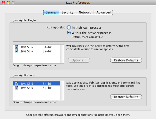 Java for OS X 2012-006 and Java for Mac OS X 10.6 Update 11